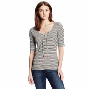 Lucky Brand v-neck striped top